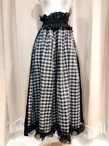 One Of a Kind Check Skirt