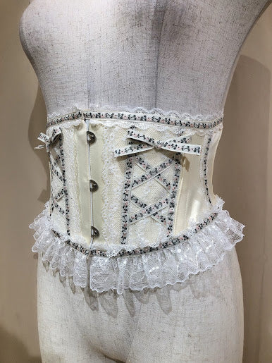 TYROLEAN LACE VERY SHORT CORSET(IVORY)
