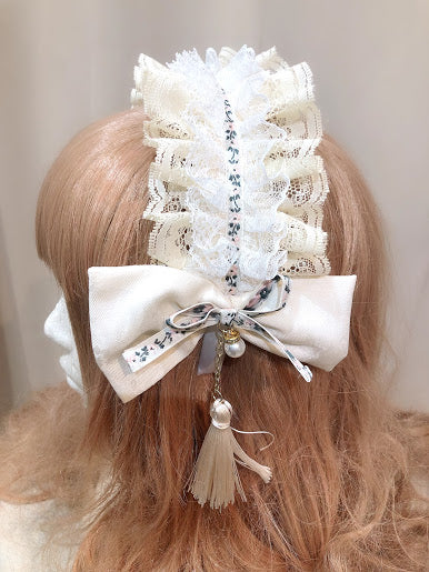 TYROLEAN LACE HEAD BAND (IVORY)