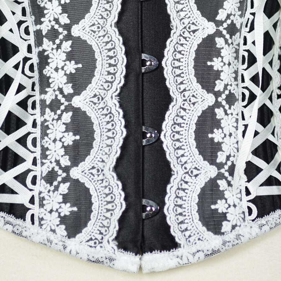LACE UP SHORT CORSET