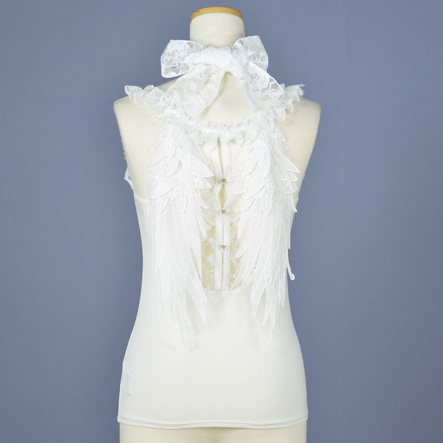 LACE WING CAMISOLE(WHITE)