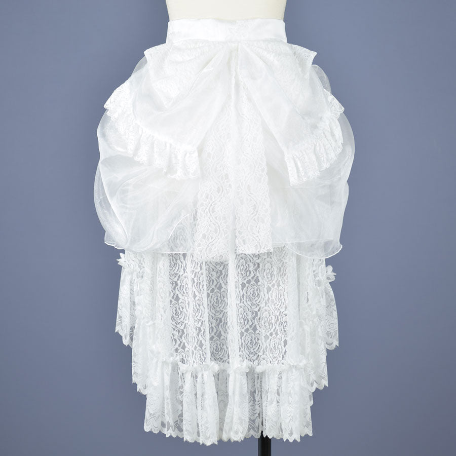 ORGANDY BUSSLE(WHITE)