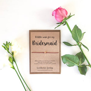 A little wish for my Bridesmaid - wish bracelet