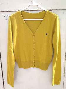 Blutsgeschwister- Save the World Cardi- yellow solid