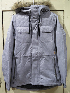 Volcom Shadow Ins Snow Jacket- heather grey