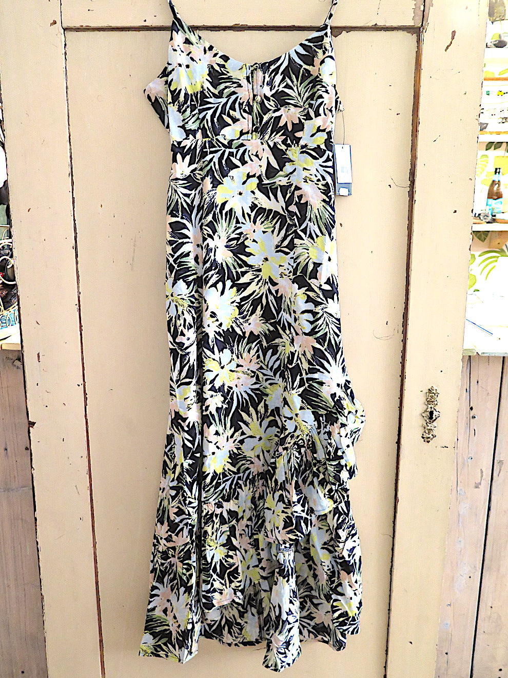 Volcom- Thats my type maxi dress- black/lime