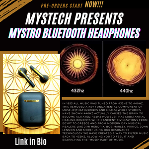 **NEW** Mystro Pure 432Hz Wireless Earbuds (Pre-Order)