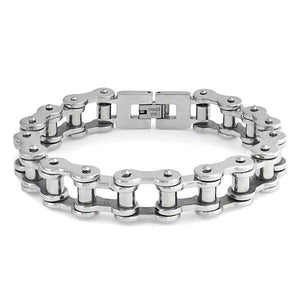 Bike Chain Bracelet — Polished Stainless Steel