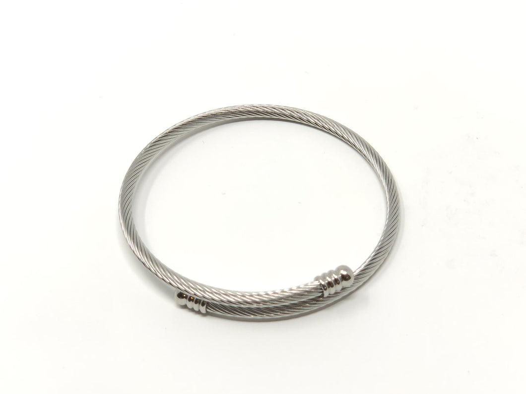Cable Expanding Bracelet Thin — Stainless Steel