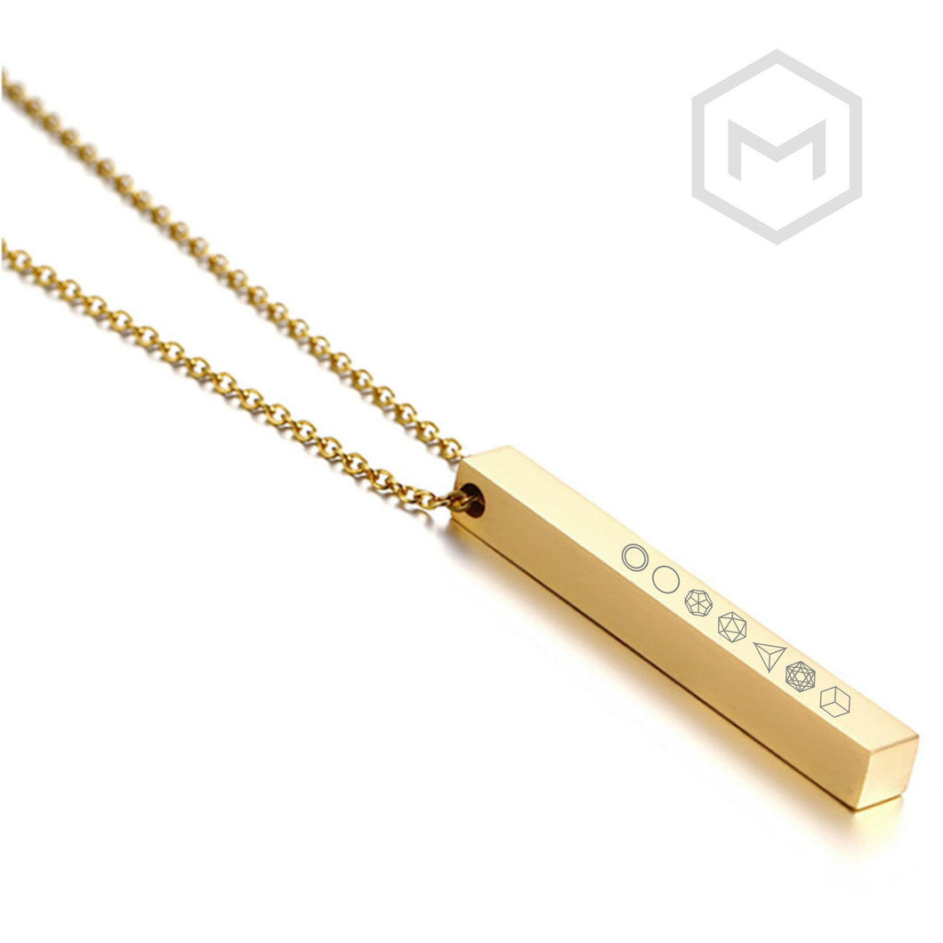 **NEW** Platonic Solid Pillar Necklace