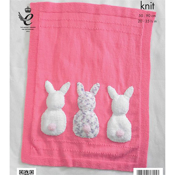 Knitting Pattern: Baby Blanket and Bunny Rabbit Toy in DK Yarn