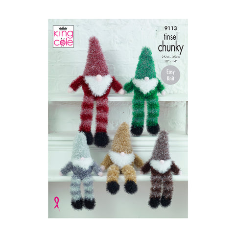 Knitting Pattern: Gnomes in Tinsel Chunky Yarn