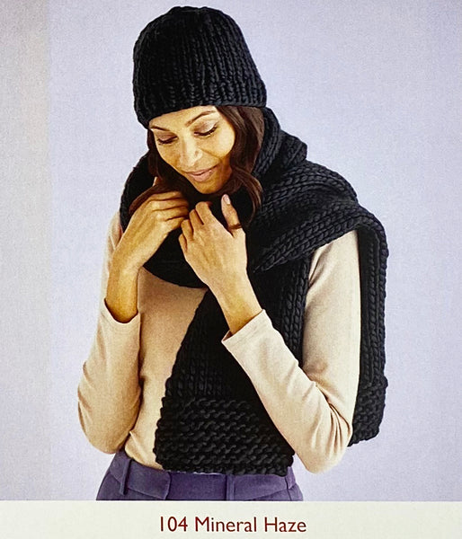 Knitting Pattern: Hat and Scarf in Super Chunky Yarn