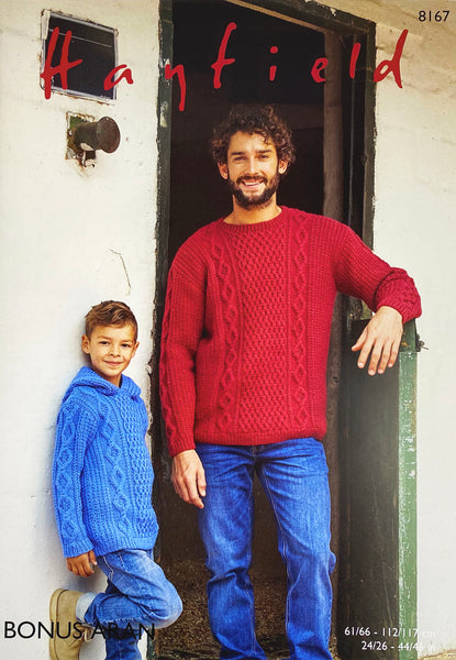 Knitting Pattern: Aran Sweaters for Children and Adults