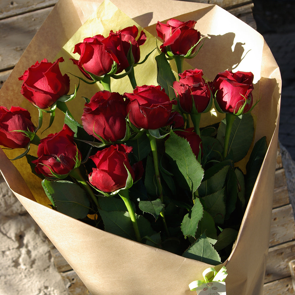 Bouquet de 10 roses rouges