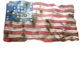 Rustic Worn American Battle Flag