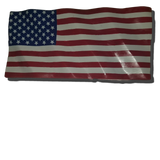 Hand Carved Wavy Wooden Rustic American Flag.