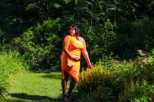 Bougee Talkin Orange Dress