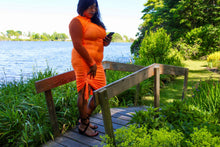 Load image into Gallery viewer, Bougee Talkin Orange Dress