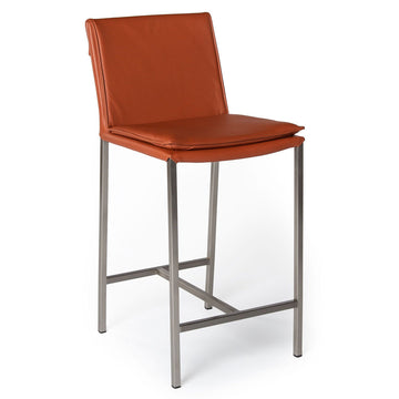 HAMILTON | Counter Stool - Real Leather Cotto