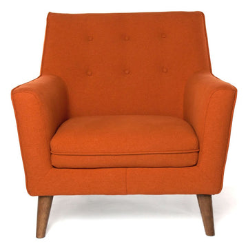 HOLMEN | Arm Chair - Orange Fabric
