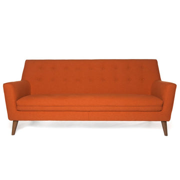 HOLMEN | Sofa - Orange Fabric