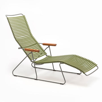 CLICK | Sunlounger Chair - Olive Green