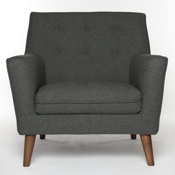 HOLMEN | Arm Chair - Grey Fabric