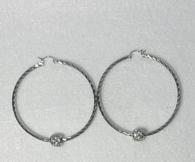Silver Everyday Hoops