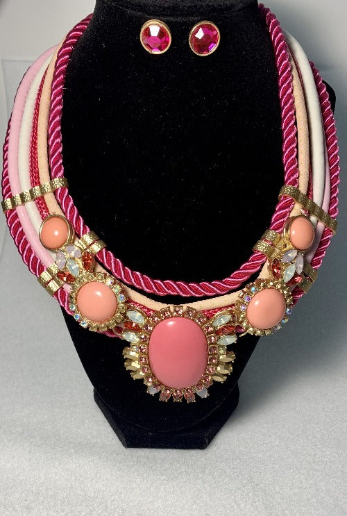 Pretty in Pink Rope Necklace