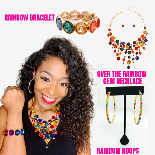 Over the Rainbow Gem Necklace