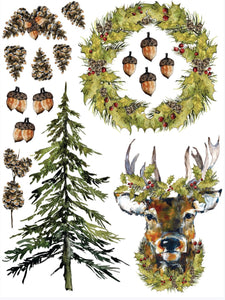 Iron Orchid Designs Decor Transfer-Woodland Christmas