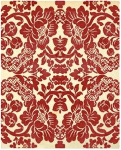 Red Damask Decoupage Sheet