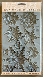 Iron Orchid Designs Mould-Snowflakes