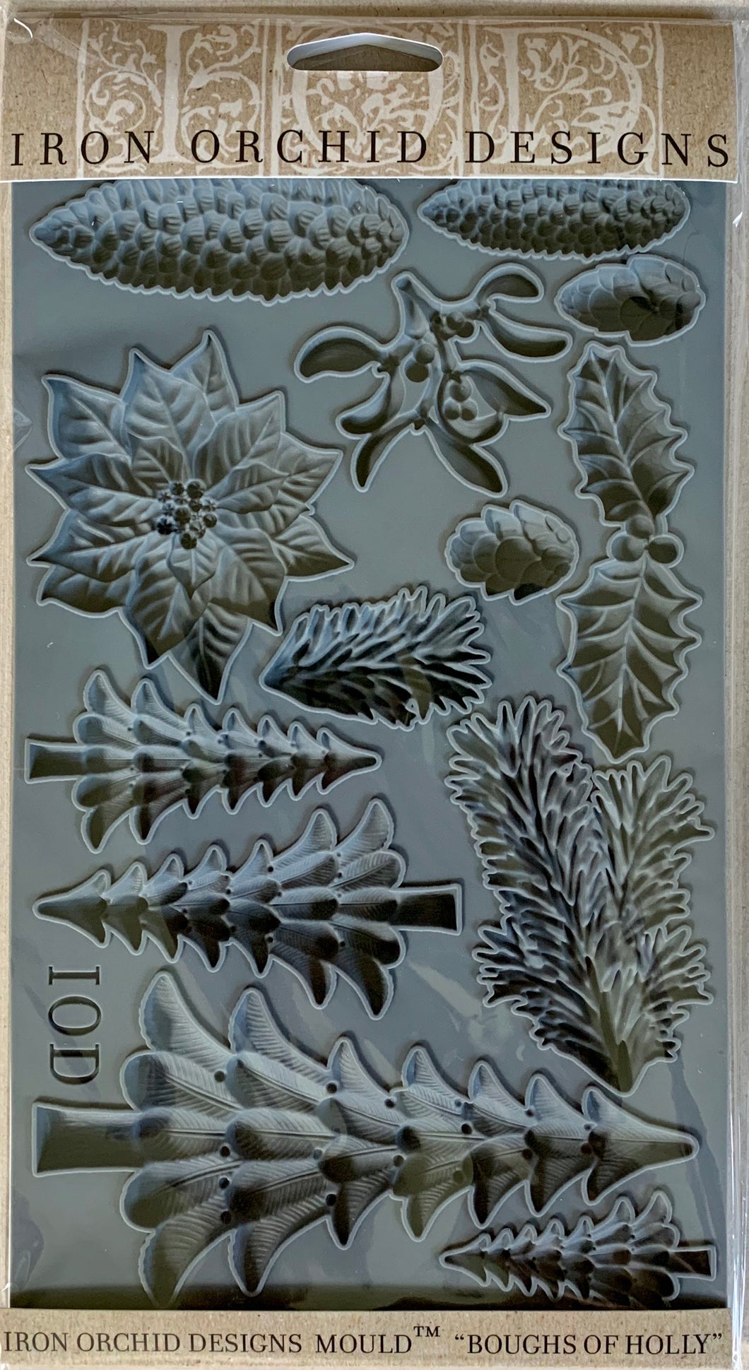 Iron Orchid Designs Mould - Boughs of Holly