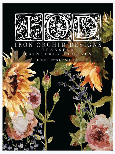 Iron Orchid Designs Transfer-Painterly Florals