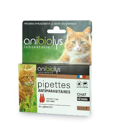 Pipette Antiparasit. Chat X2