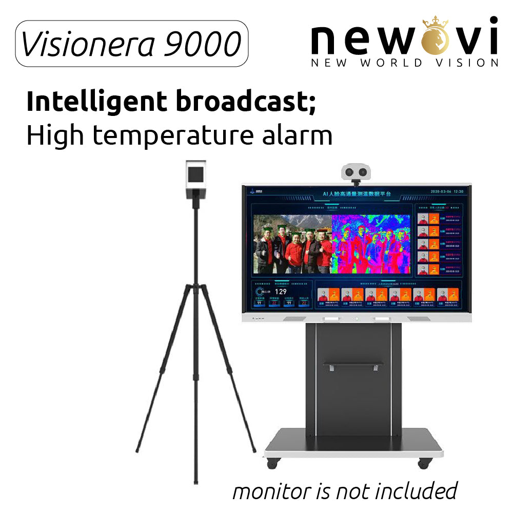 Visionera 9000 Multi Person AI Thermal Imaging Body Temperature Measurement with Face Recognition