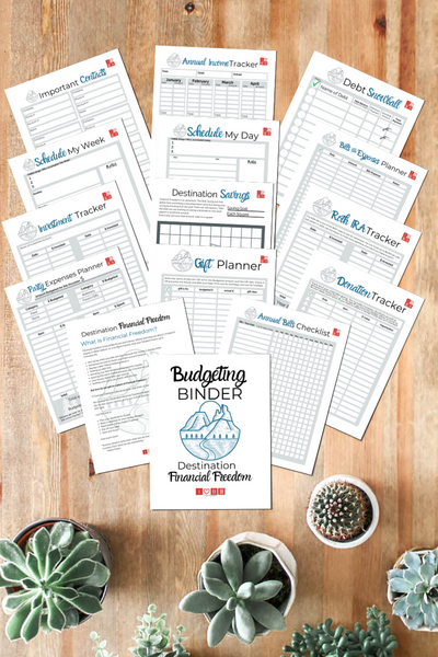 Budgeting Binder (40-Page Printable Workbook)