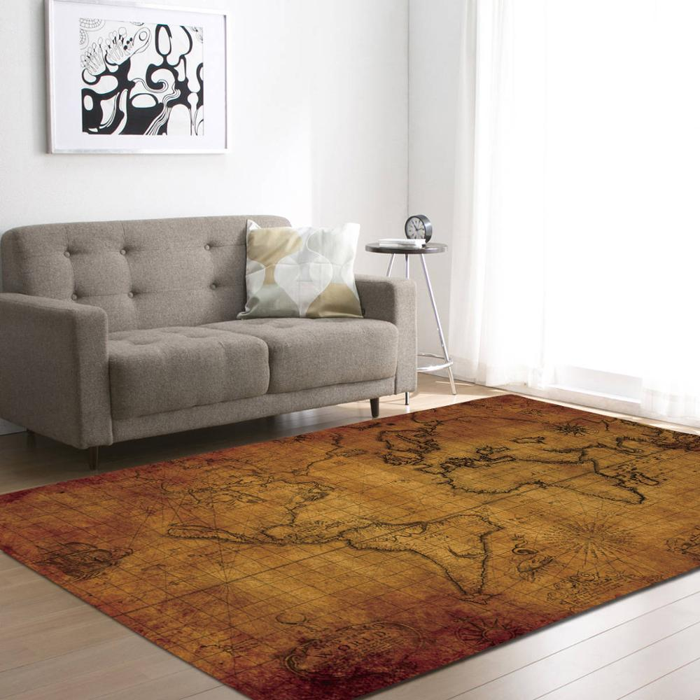 World Map Rug - DECOINTERIORS