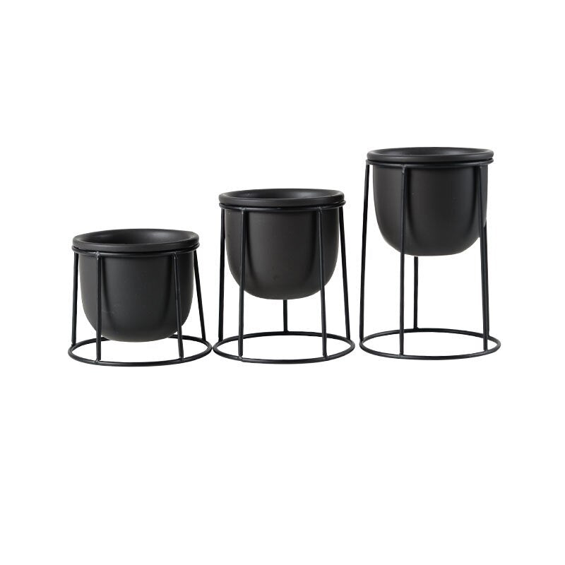 SET OF 3PCS MODERN FLOWER POTS SUCCULENT PLANT POT - DECOINTERIORS