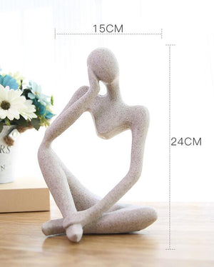 THE Thinker Sculpture Art Moderne Statue - DECOINTERIORS