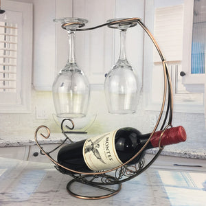 WINE RACK HANGING WINE GLASS HOLDER - DECOINTERIORS