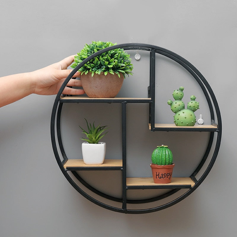 Circle Wall Shelf - DECOINTERIORS