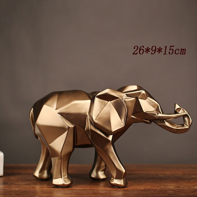 GOLD ELEPHANT Sculpture - DECOINTERIORS