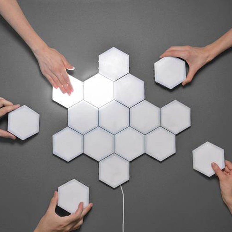 Modular Touch Sensitive Lamp Hexagonal lamps - DECOINTERIORS