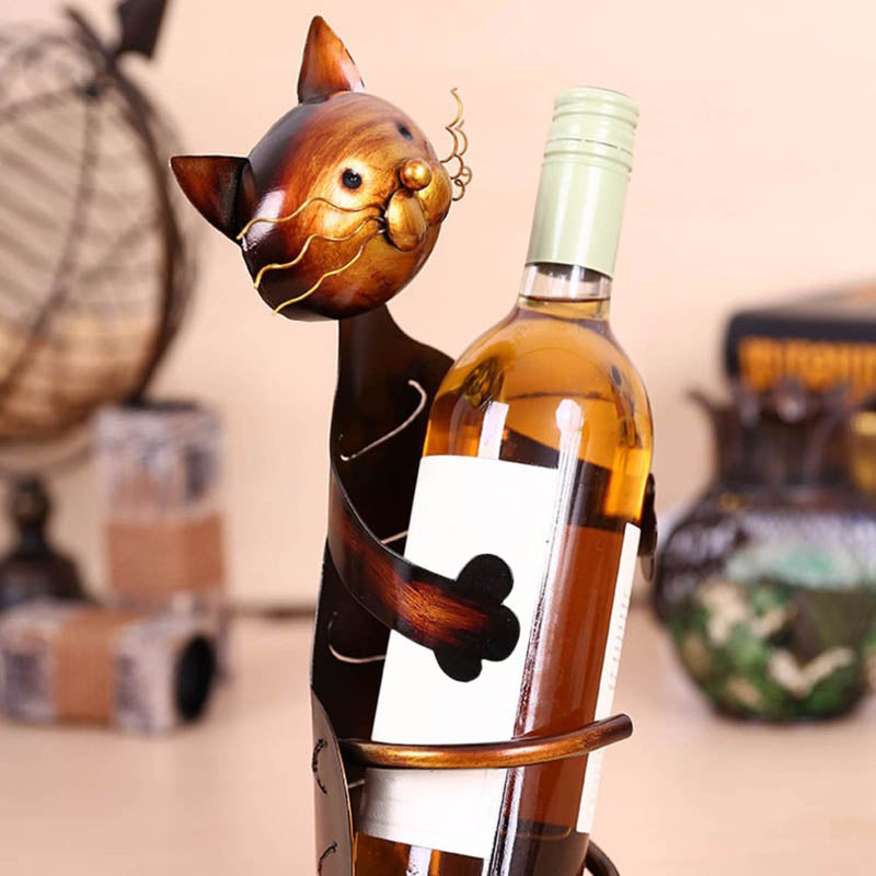 Cat Wine Bottle Holder - DECOINTERIORS