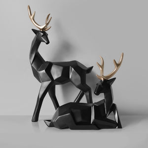 Deer Statue, Deer Sculpture - DECOINTERIORS