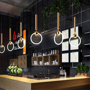 Modern Luxury Circle Ring Bedside Pendant Light - Decointeriors