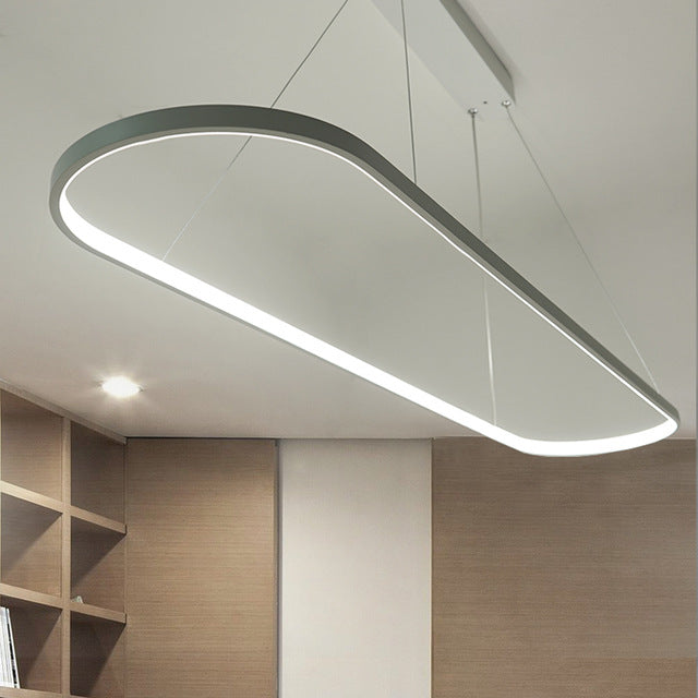 Large Oval Led Ring Kitchen Lights Dining Room Light, Kitchen Light Pendant Chandelier - DECOINTERIORS